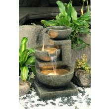 Medium Granite Three Bowl Water Feature