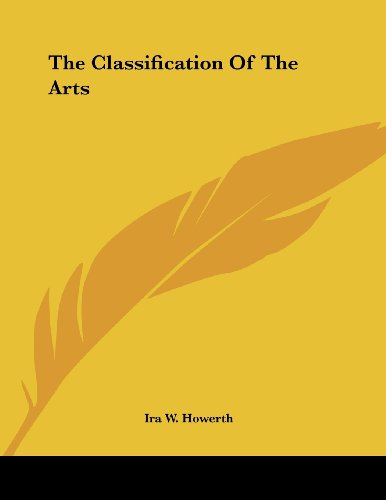 The Classification of the Arts