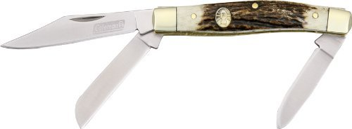 Coleman Knives 1033 Pinnacle Stockman Pocket Knife With Stag Handles