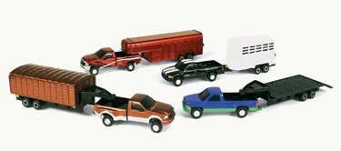 ERTL 1:64 Pickup and Trailer F350 with livestock trailer