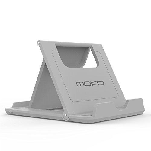 MoKo Multi-angoli Portatile Pieghevole Supporto per Smartphone, Tablet (6-8 pollici) e E-reader, adatto a iPhone 7 / 7 plus / 6s, 6s Plus, Galaxy S7 / S7 edge, Huawei P9 / P8, iPad Mini 4,