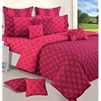 Swayam Shades Of Paradise Printed Cotton Single AC Comforter - Magenta (ACS 11-3008)