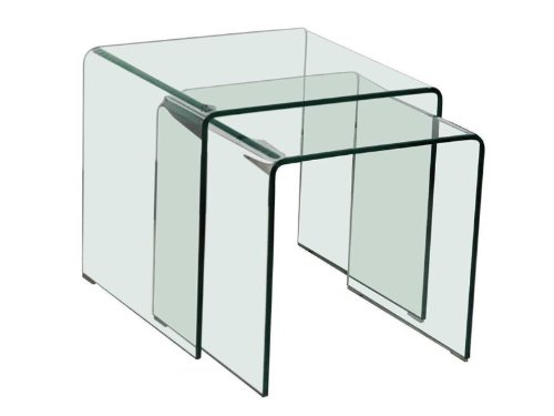 Glastisch-2tlg-ausziehbar-Wohnzimmer-Esszimmer-Kche-Glas-Tisch-Beistelltisch-BHP-Alana-B154076