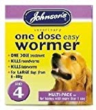 Johnsons Veterinary Products Jvp Dog Easy Dose Wormer - Size 4 Large Breeds 8 Tablets