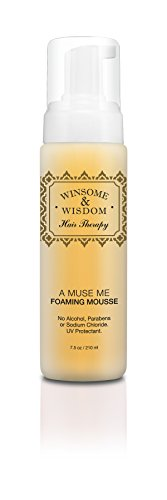 A Muse Me 7.5 oz Hair Mousse Volume Curly For Women Men Kids Girls Volumizing Curls Fine Natural Thick Thinning Wavy Without Alcohol Paraben Free With UV Protection Styling Cruelty Free Care Products (Vegan Heat Protectant compare prices)