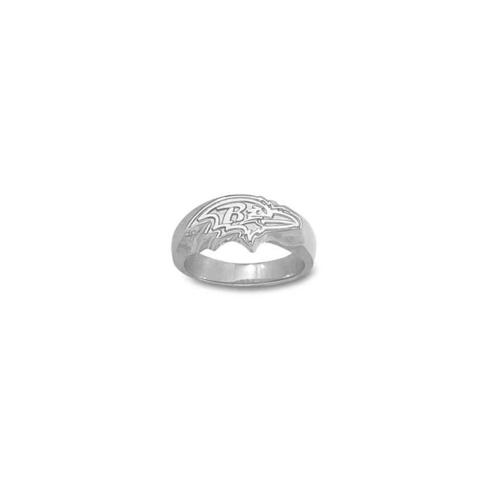 Baltimore Ravens NFL Profile Logo Ring (Silver)  Sports