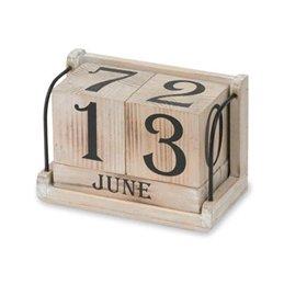 【万年カレンダー/カレンダー/卓上カレンダー】 POSHLIVING PO-40578 アンティークキューブカレンダー