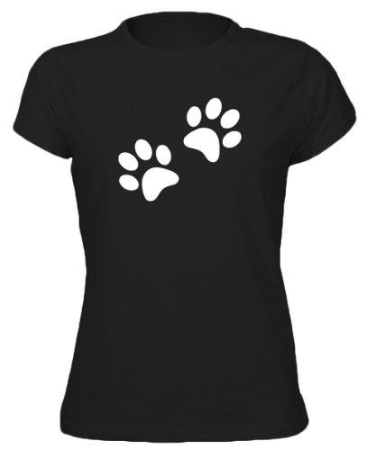 Dog Paw Prints Animal Womens T-Shirt