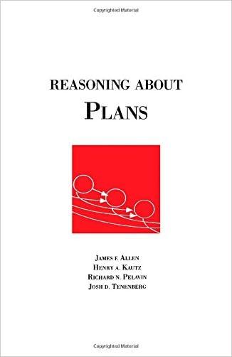 Reasoning About Plans (Morgan Kaufmann Series in Representation & Reasoning)
