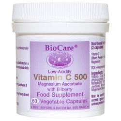 Biocare Vitamin C 500 Citrus free Vegetable - Pack of 180 Capsules