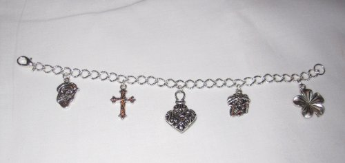 """Day Of The Dead Sugar Skull Charm Bracelet 8"""" ~ Dia De Los Muertos"""