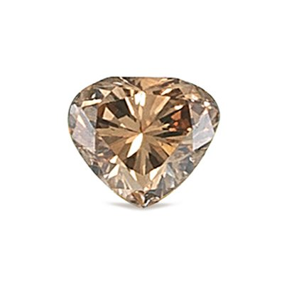 GIA Certified Natural Fancy Yellow-Brown (1pc) Loose Diamond - 0.57 Cts - 4.63x5.83x3.52 mm VS1 Clarity Modified Heart Brilliant image