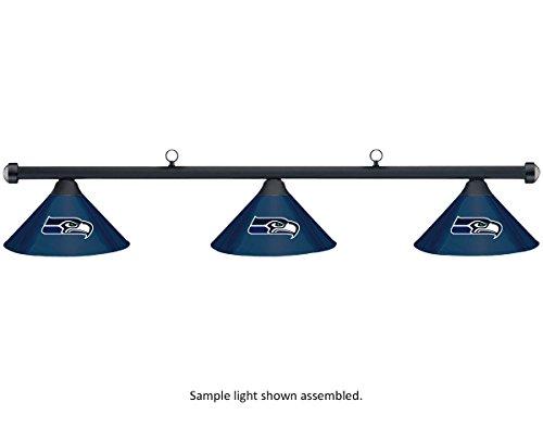 NFL-Seattle-Seahawks-Blue-Metal-Shade-Black-Bar-PoolBilliard-Table-Light