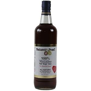 Nature's Pearl 100% Premium Muscadine Red Grape Juice