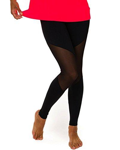 Onzie Women's Mesh Track Legging Black (S/M)