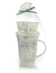 Florentyna White Flowers Mug Gift Set
