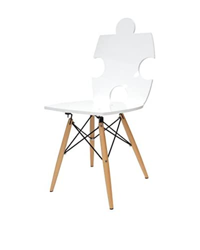 ACRILA Puzzle Chair, White