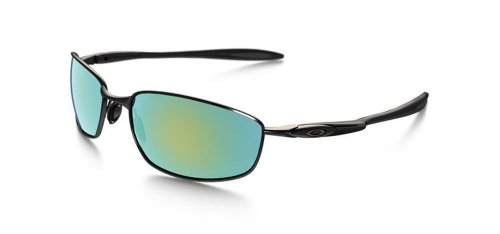 Oakley Mens Blender Oo4059-13 Iridium Polarized Sport Sunglasses,Polished Black,55 Mm front-86858