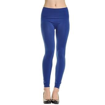 Angelina Full-Length Seamless Leggings, Royal Blue  One Size