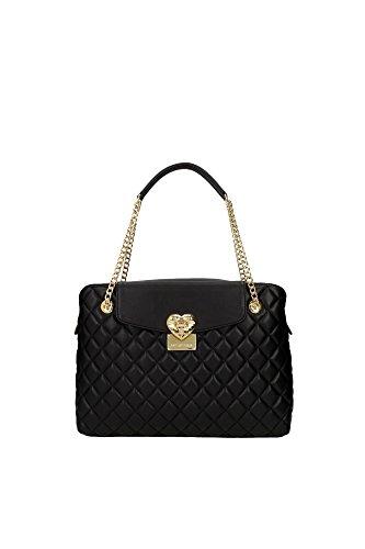 Handtasche Love Moschino Damen Polyurethan Schwarz und Gold JC4007PP12LA0000 Schwarz 11x25x35 cm thumbnail