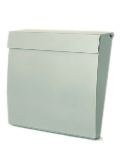 Calder Large Capacity A4 Steel Postbox Mailbox Letterbox Post Box Mail Box Letter Box (Silver)