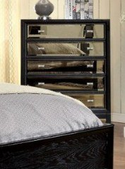 Contemporary Style Black Finish Chest by Furniture of America