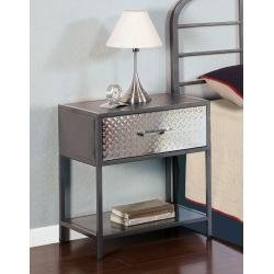 Cheap Monster Kids Nightstand with Chrome Plated Drawer Front in Charcoal Finish (500-029)