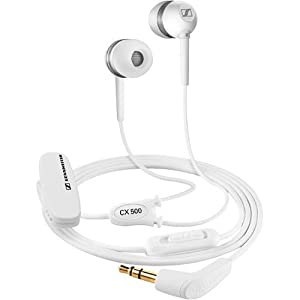 Sennheiser CX 500-W Lightweight In-Ear Stereo Headphone (White) (Discontinued by Manufacturer)
