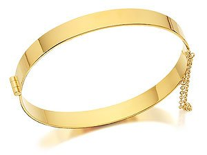 Rolled Gold Hinged Bangle