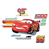 Wallables 3d Wall Decor With Bonus Decals, Lightning Mcqueen From Cars 2