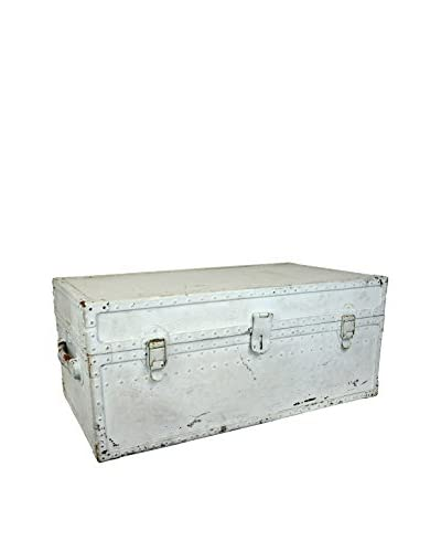 Uptown Down Vintage Trunk, Light Turquoise
