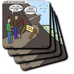 Some People Who Should Not Go Hiking - Set Of 4 Ceramic Tile Coasters