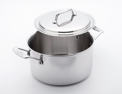 Usa Pans 4-Quart Stainless Steel Stock Pot With 8-Inch Lid Cover