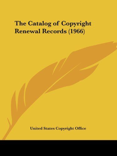 The Catalog of Copyright Renewal Records (1966)