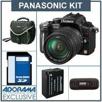 Panasonic Lumix DMC-GH2 Digital Camera, Black with 14-140mm Hybrid Lens - Bundle - with 16GB SD Memory Card. Spare DMW-BLC12 Lithium Ion Battery, Slinger Camera Bag -USB 2.0 SD Card Reader -