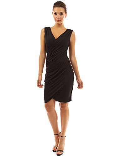 PattyBoutik-Womens-V-Neck-Faux-Wrap-Ruched-Day-Night-Dress