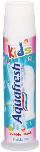 Aquafresh Three Stripe Kids Pump Toothpaste,