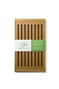 Bambu 14-Inch L by 8-1/2-Inch W by 1-1/4-Inch H Gaby Crumb Board, Golden Brown