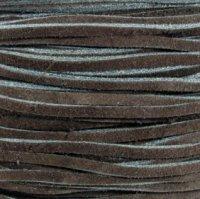 Black Split Suede Lace 3MM (1/8