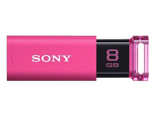 ソニー USB3.0対応 ノックスライド式USBメモリー ポケットビット 8GB ピンク キャップレス USM8GU P