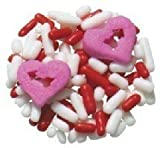 Edible Confetti Sprinkles Cake Cookie Cupcake Quins Valentines Day Lovestruck Hearts 8 Ounces