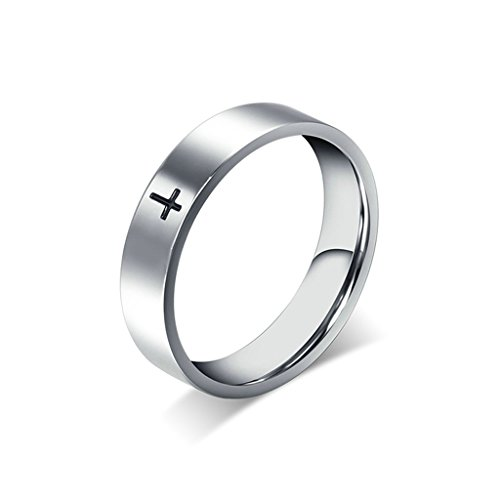 Alimab-Jewelery-Rings-Womens-Stainless-Steel-Wedding-Bands-Smooth-Cross-Silver-Size-13