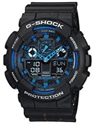 Casio G-Shock (Extra Large Combination) GA-100-1A2DR (G271) Watch - For Men
