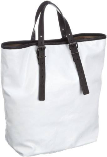 Lacoste  Medium Vertical Tote Bag,  Borsa a mano donna, Bianco (Weiss (WHITE 001)), 27x35x15 cm (B x H x T)