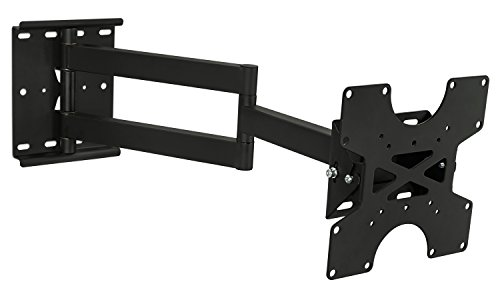 Mount-It! TV Wall Mount Full Motion Bracket For 30 32 35 37 40 Inch Televisions Fits LCD/LED/Plasma 4K Flat Screens, VESA 75x75 to 200x200, 100 Lb Weight Capacity, Black (MI-411) (35 Plasma Tv compare prices)