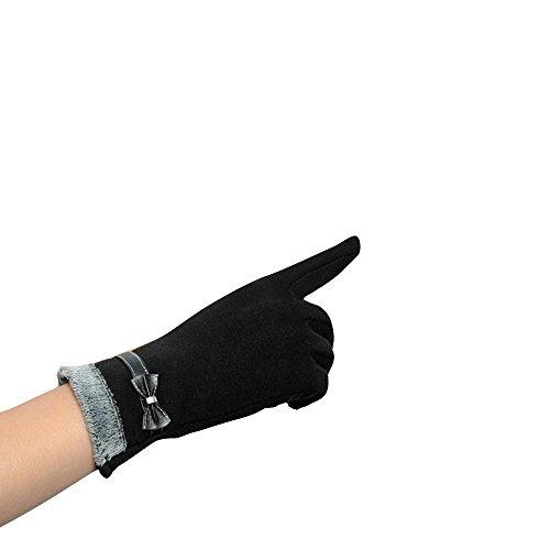 longra-damen-beruhren-bildschirm-winter-warm-handgelenk-handschuhe-faustlinge-schwarz