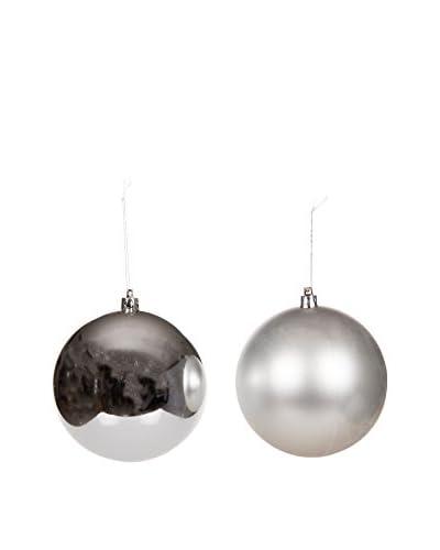 Christmas Chalet  Set Decorazione Da Appendere 12 pezzi Ø10.Cm Opaco/Lucido