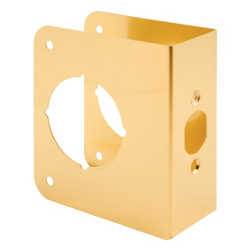 Prime-Line Products U 9556 1-3/4-Inch Thick by 2-3/8-Inch Backset 2-1/8-Inch Bore Door Reinforce, Brass