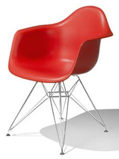 Charles & Ray Eames Style Style DAR Eiffel Dining Lounge Chair (Red)