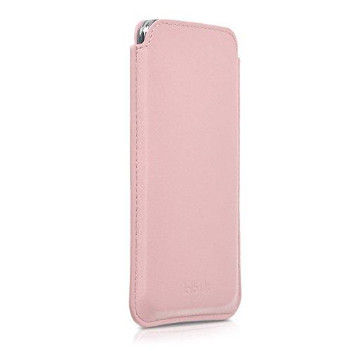 kalibri-Leder-Tasche-Hlle-fr-Samsung-Galaxy-S5-S5-Neo-S5-Duos-Handy-Case-Cover-Echtleder-Schutzhlle-in-Rosa